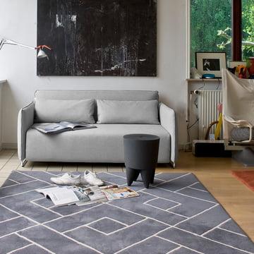 Softline - Cord Schlafsofa, Filz grau (620)