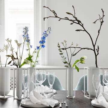by Lassen - Kubus Vase Flora, weiss