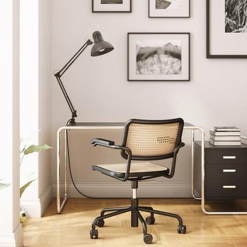 Drehstuhl mit Fünfsterngestell für das Büro