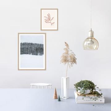Das ideale Weihnachtsgeschenk: Poster mit verschneiter Landschaft
