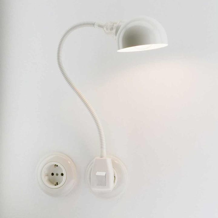 Stiletto - Glühwürmchen Standard mit Halbkugel-Reflektor, weiß