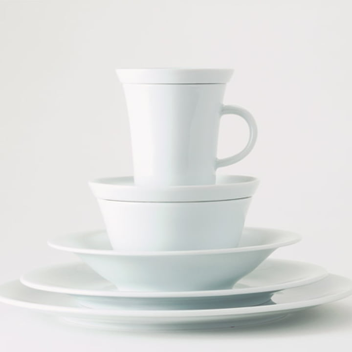Kahla Update Geschirr in schlichtem Weiß