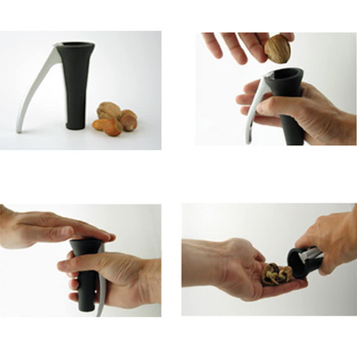 Drosselmeyer Nussknacker in Gebrauch