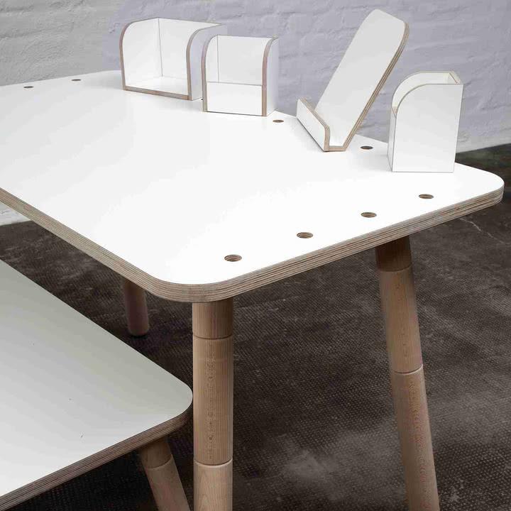 Pure Position - Growing Table Tisch mit Zubehör
