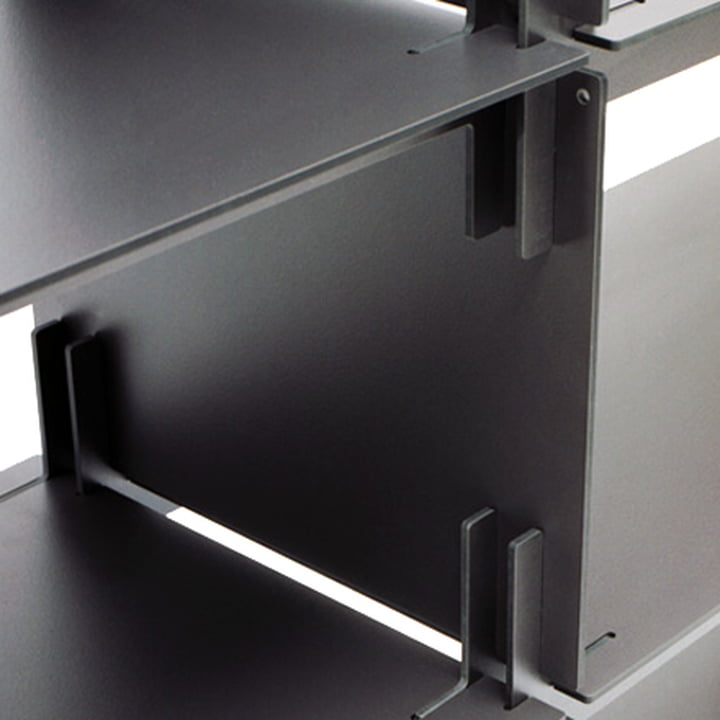 Regalsystem Plattenbau von Kaether & Weise in Schwarz