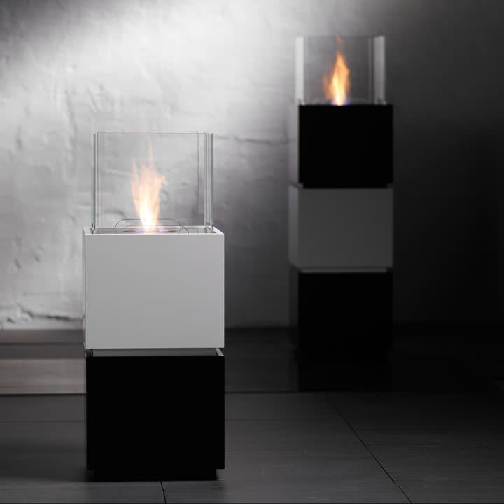 Safretti - Cube W1/B1 Feuerstelle - schwarz/weiß