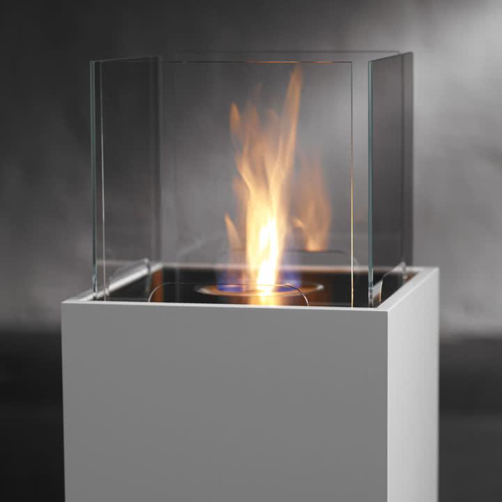 Safretti - Cube Feuerstelle W1, weiß