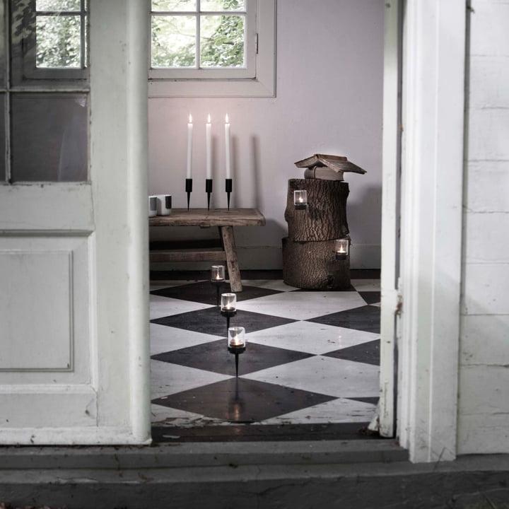 Pipe Teelichthalter und Kerzenständer von Menu