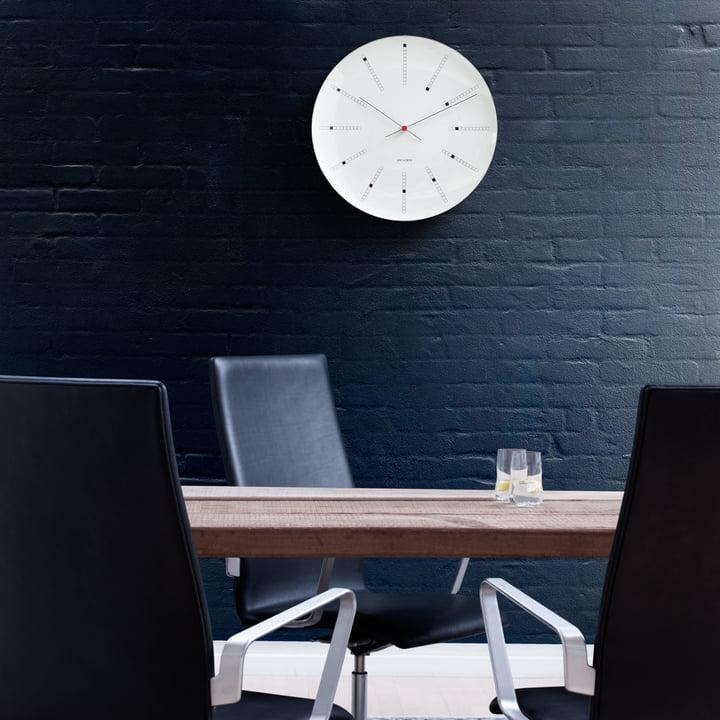 Rosendahl - AJ Bankers Wanduhr - Ambiente, schwarze Wand