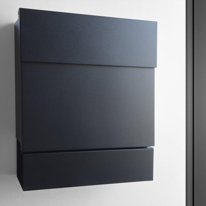 briefkasten letterman v mit zeitungsrolle von radius design connox. Black Bedroom Furniture Sets. Home Design Ideas