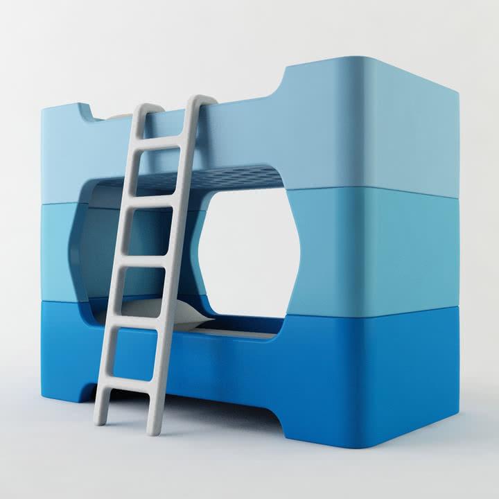 Castello Wohndesign: Bunky Kinderbett