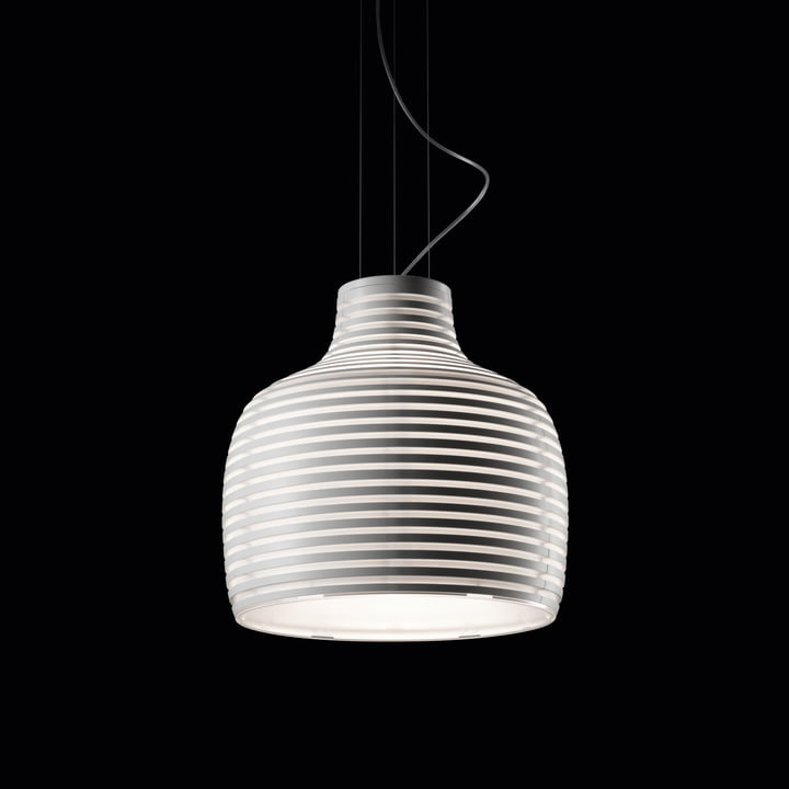 Foscarini - Behive Hängeleuchte, weiß - schwarzer Hintergrund