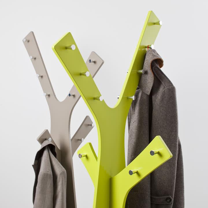 Cascando - Tree Standgardrobe, grau, grün - Nahansicht, Jacken