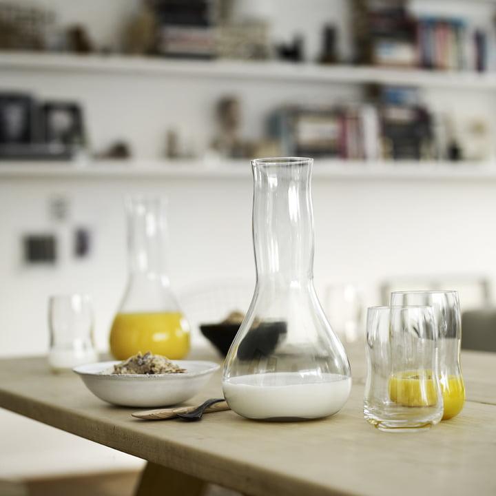 Holmegaard - Future - Trinkgläser, Karaffe - Frühstückstisch
