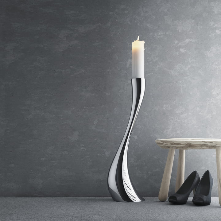Georg Jensen - Cobra Kerzenleuchter, 60cm