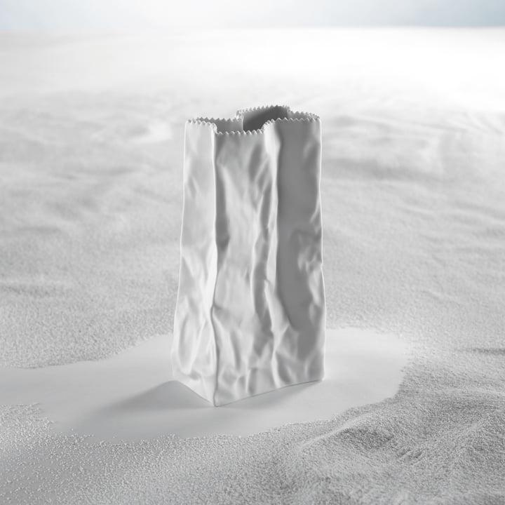 Rosenthal - Tütenvase, weiß - Sand