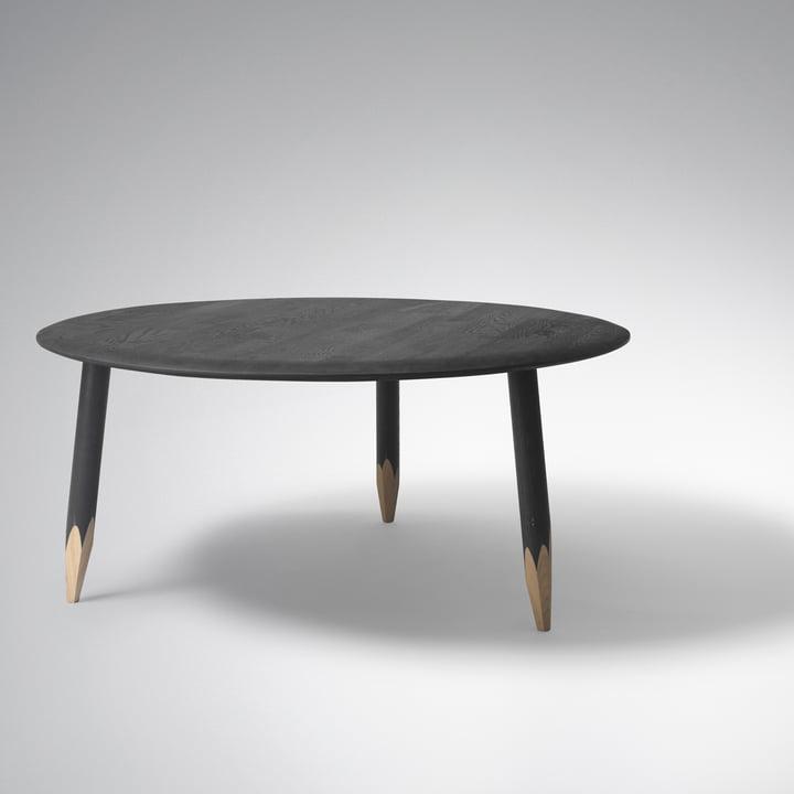 Hoof Table groß von &Tradition in schwarz