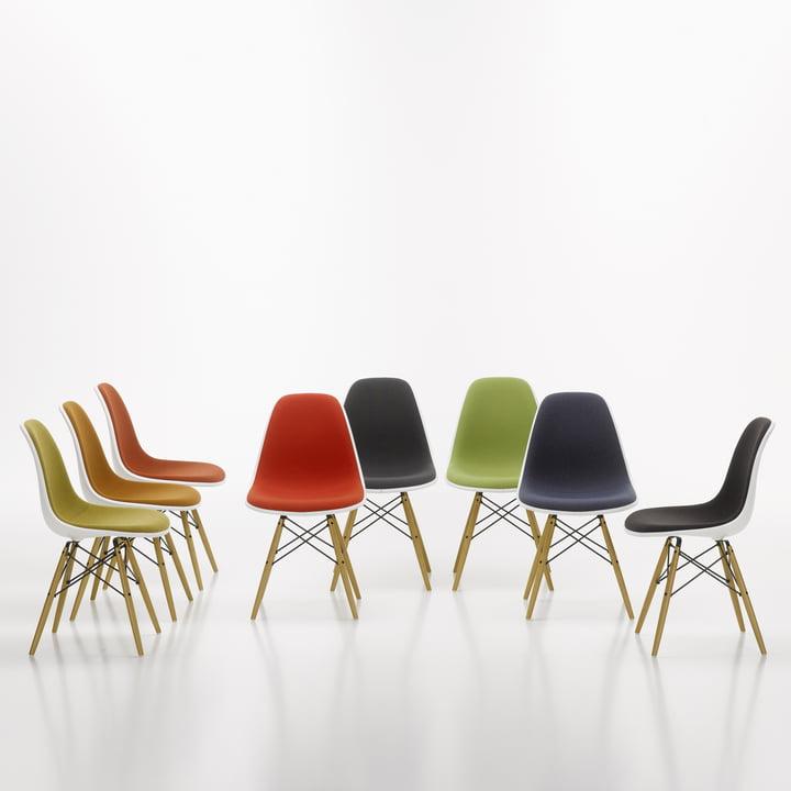 Eames Plastic Side Chair DSW von Vitra mit Vollpolster
