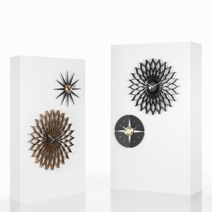 sunburst clock von vitra im shop. Black Bedroom Furniture Sets. Home Design Ideas