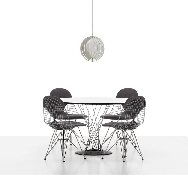 Vitra - Wire Chair DKR, verchromt - mit Sitz- und Rückenpolster