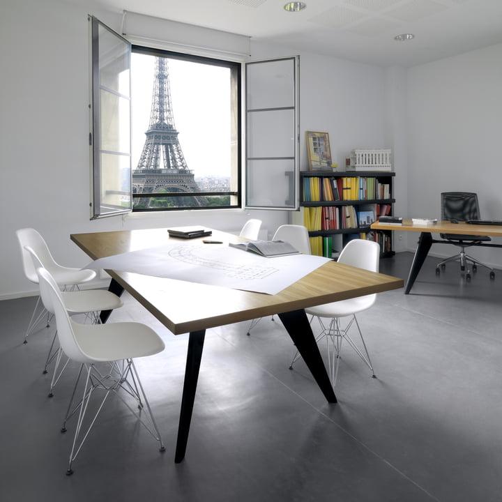 eames plastic side chair dsr von vitra. Black Bedroom Furniture Sets. Home Design Ideas