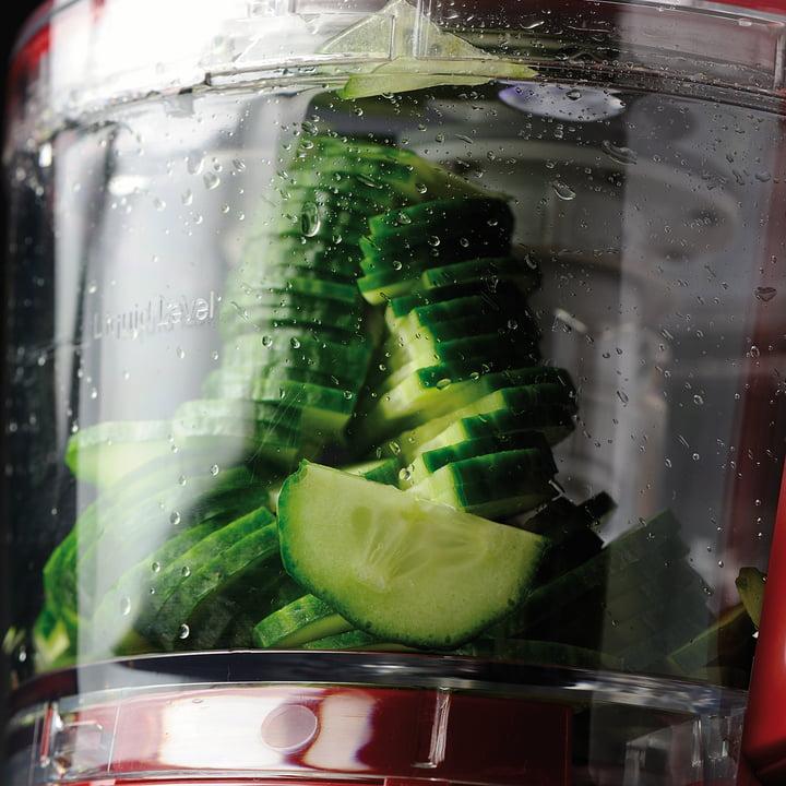 Der KitchenAid - Food Processor, 2,1 L - Schneiden von Gemüsescheiben