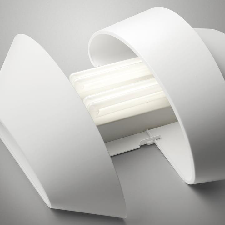 Foscarini - Le Soleil Wandleuchte, weiß - offen, Leuchtmittel