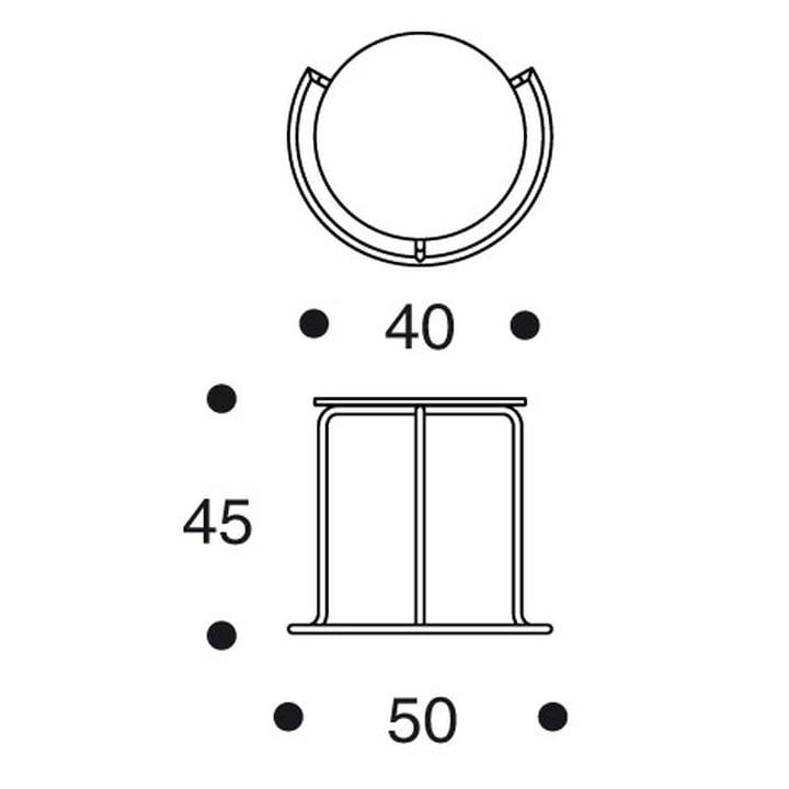 Artek - Side Table 606 - Maße