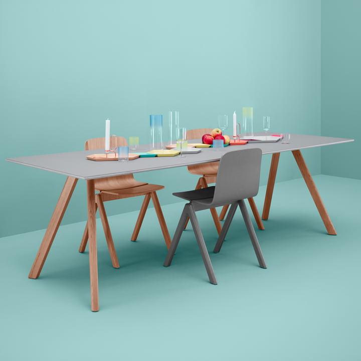 Copenhague Stühle und Tisch von Hay