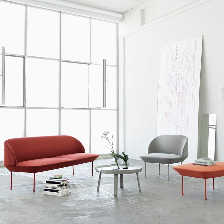 Oslo Sofa von Muuto im Wohnzimmer