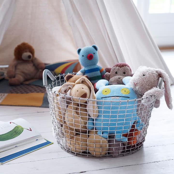 Drahtkorb für das Kinderzimmer