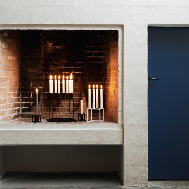 Der by Lassen - Kubus Kerzenhalter in Kaminatmospähre