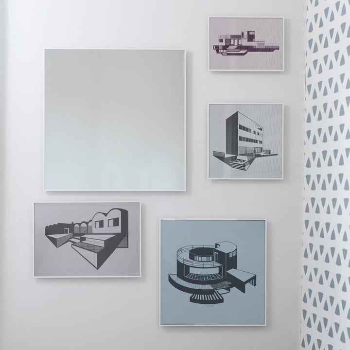 by Lassen - Kunstdrucke neben der Flow Tapete