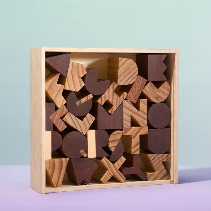 Areaware - Alphabet Blocks - mit Box