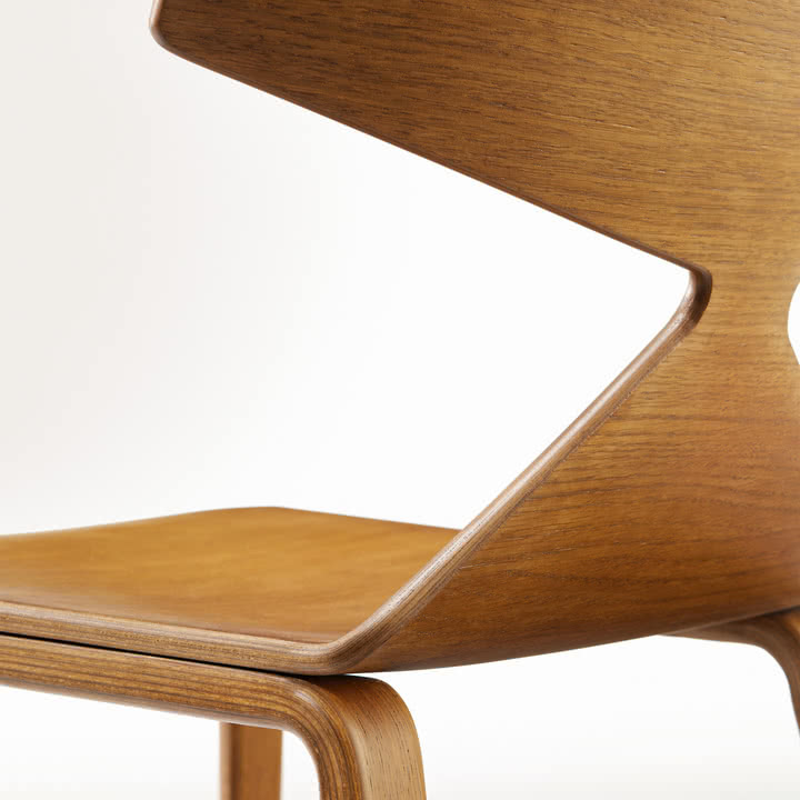 Arper - Saya Stuhl, wooden legs - Detail, Rückseite