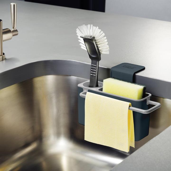 Joseph Joseph - Sink Aid, schwarz / grau - befüllt