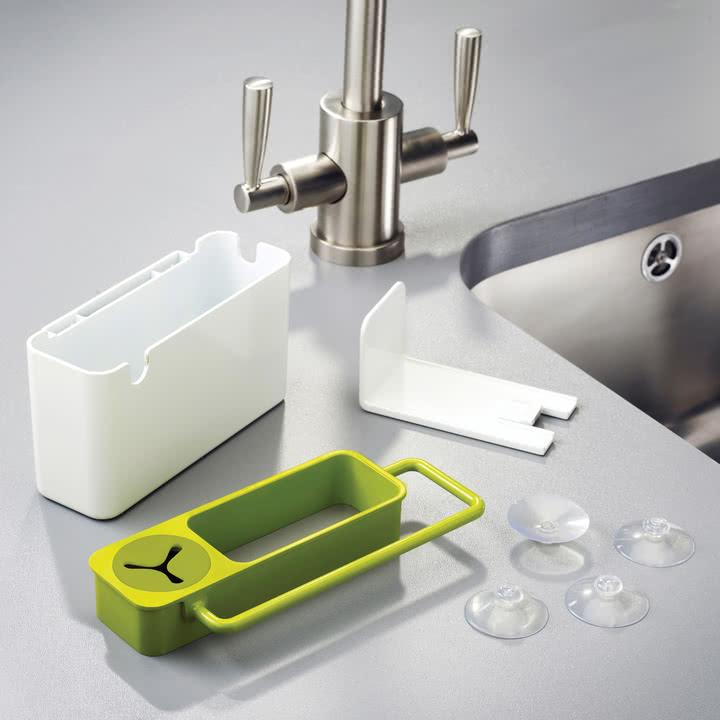 Joseph Joseph - Sink Aid, weiß / grün - Einzelteile