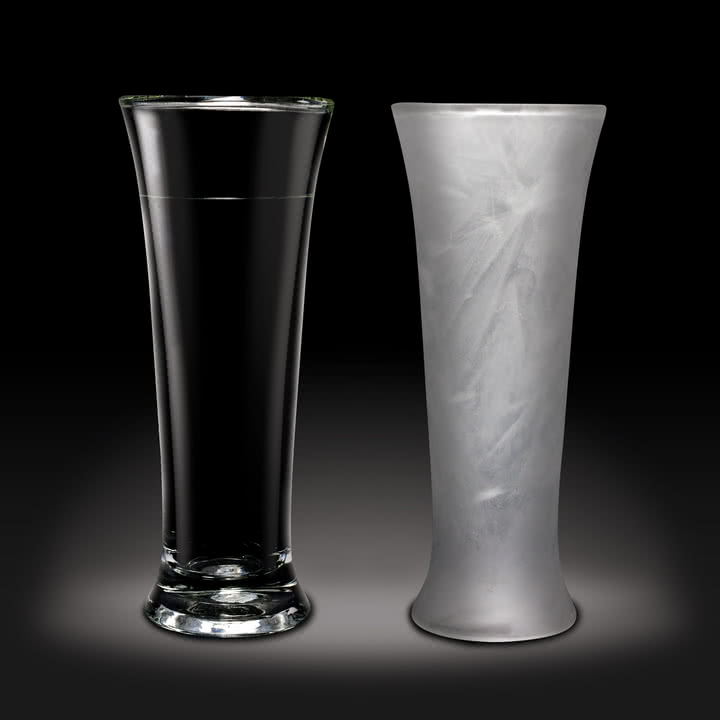 Amsterdam Glass - Bierglas, 390 ml - normal und gefroren