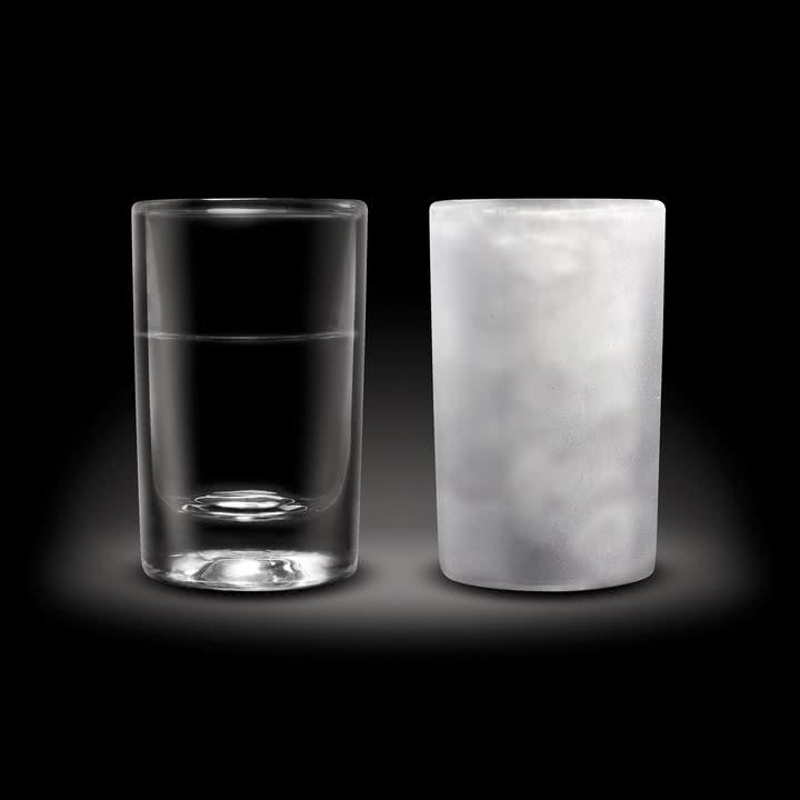 Amsterdam Glass - Schnaps-Glas, 45 ml - normal und gefroren