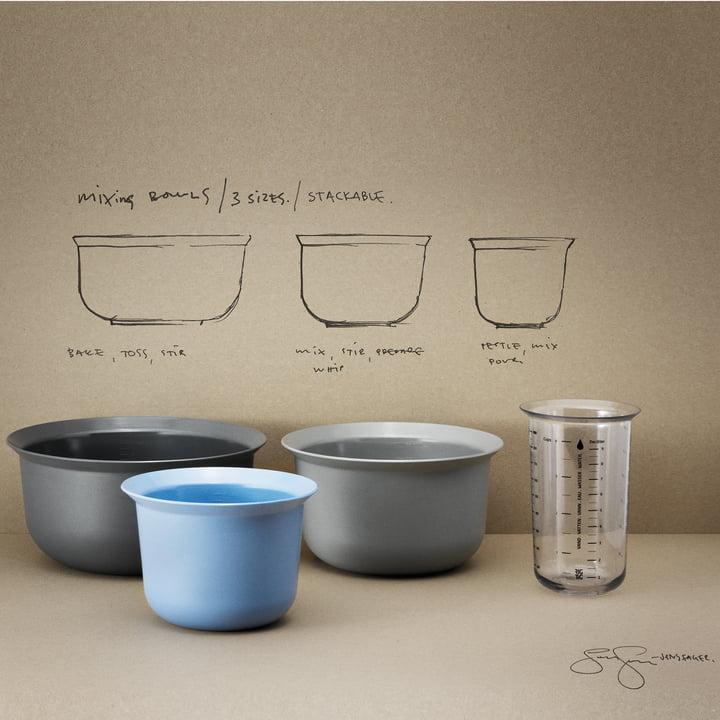 Messbecher und Mix-It Rührschüsseln von Rig-Tig by Stelton