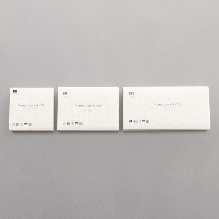 3120 Mino - Memo Block 5x50 - Gruppe, Größen