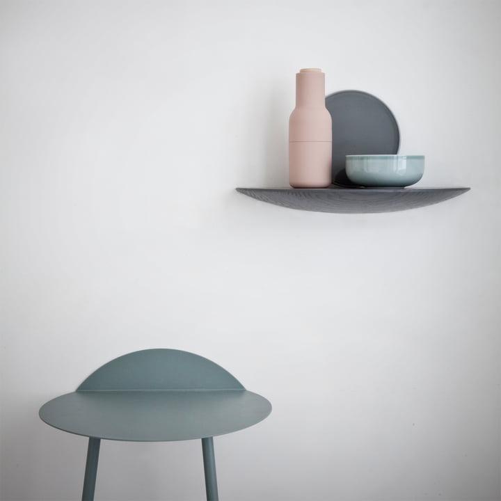 Bottle Salz- und Pfeffermühle, die Gridy Fungi Shelves und der Yeh Wand-Tisch