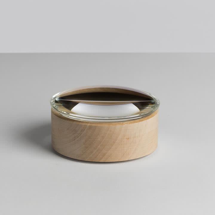 Hay - Lens Box / Deckel, Ø 10, Ahorn, Glas