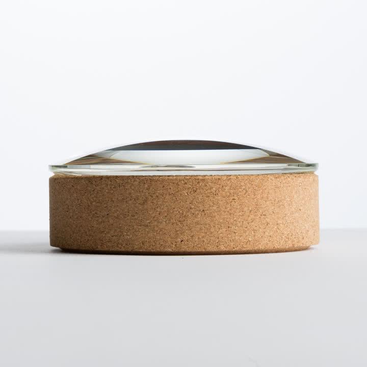 Hay - Lens Box / Deckel, Ø 14, Kork, Glas - Seite