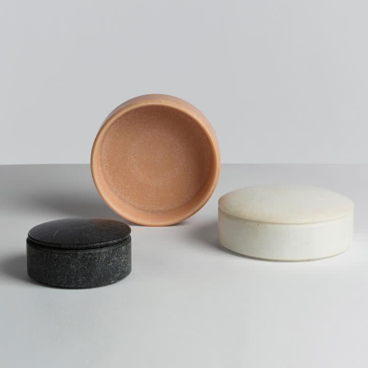 Hay - Lens Box / Deckel, Marmor - Gruppe