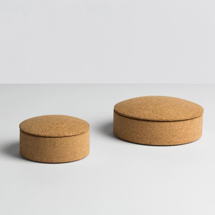 Hay - Lens Box / Deckel, Kork - Größen
