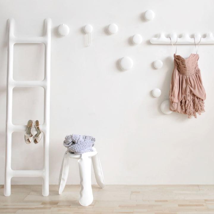 Zieta - Drab Kleiderablage, weiß