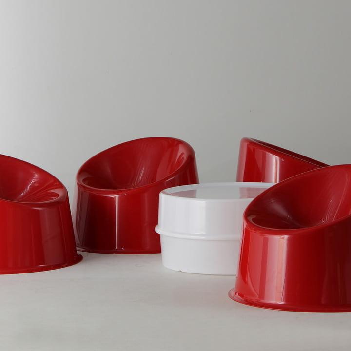 Illumesa und Panto Pop Stuhl von Verpan