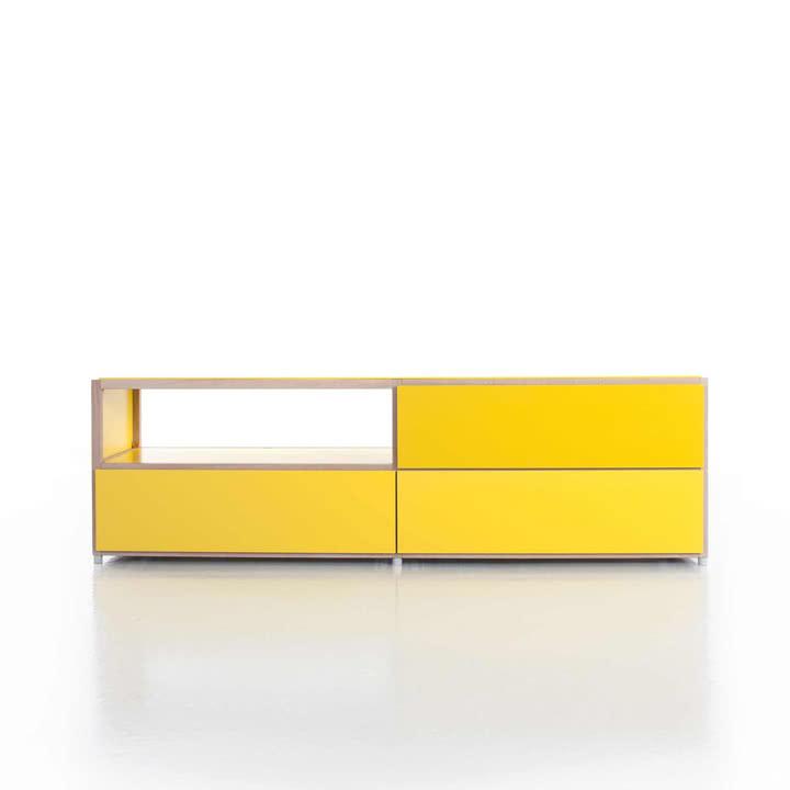 Flötotto - ADD Lowboard, 3 Schubladen, gelb - Beispiel