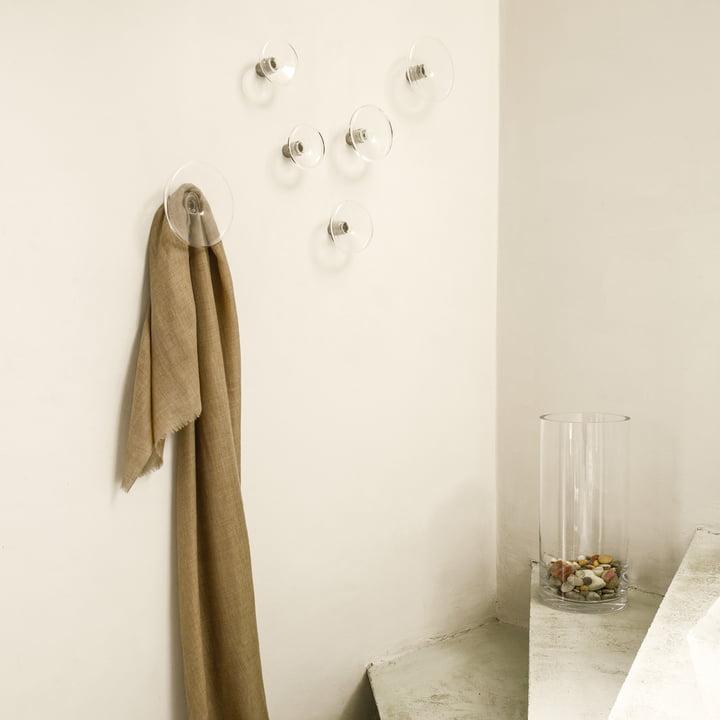 Transparenter Wandhaken für Ihr Bad